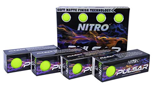 Nitro Pulsar Box Golf Balls (Pack 12), Yellow