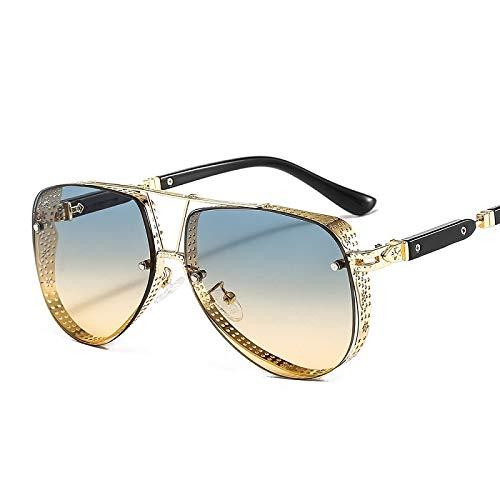 ghn Gafas de sol de moda 2021 Nuevo Patrón hueco Oval Gafas de sol Hombres Mujeres Tendencia de Lujo Marco de Aleación de Metal Todo Fitness Gafas de sol UV400 Gafas Simple Para Pesca de Montañismo