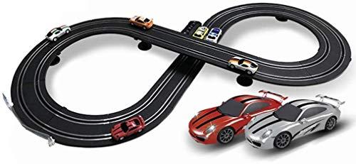 LLKK - Ranura para coche para carreras, carreras, carreras, carreras, carreras, carreras, carreras, carreras, carreras, acero inoxidable, regalos de cumpleaños y recuerdos de fiesta (tamaño: eléctrico + manual), Electric models+2 cars