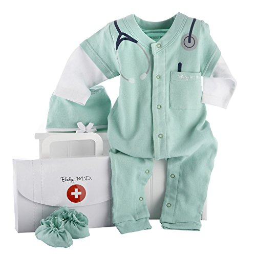 Baby Aspen, Baby M.D. Three-Piece Layette Set in