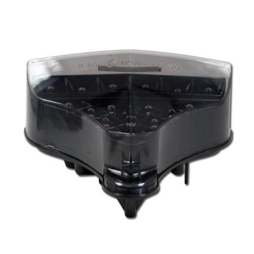 Motorrad LED Rücklicht Yamaha YZF-R1 / RN22, Bj. 09-11, getönt, Reflektor schwarz, E-geprüft