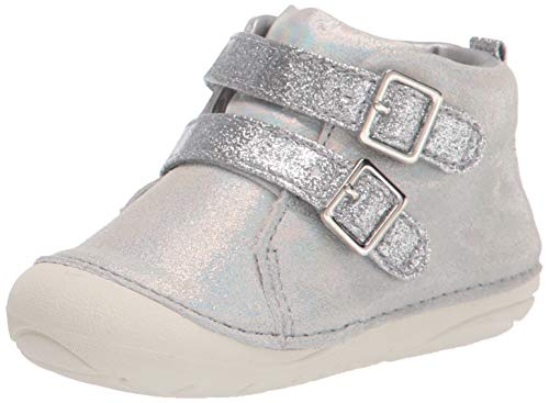 Stride Rite Girls Soft Motion Vera Fashion Boot, Silver, 6 Wide Toddler