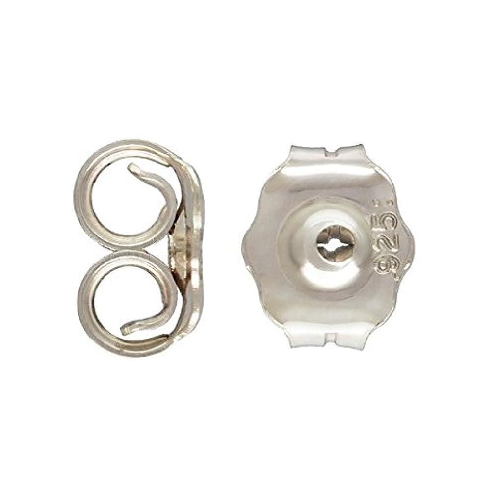 60 qty. Earring Backs .925 Sterling Silver, Medium (4.3mm x 5.1mm Earnuts) By JensFindings