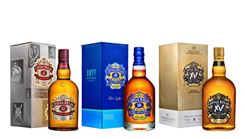 Chivas Whisky - Trio 12 Ans + XV + 18 Ans