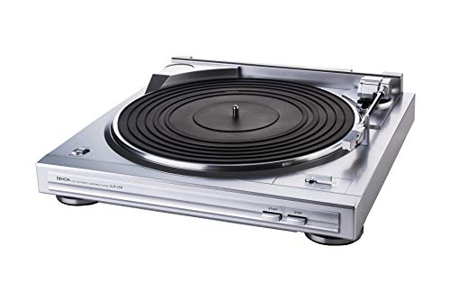 Denon DP-29F Automatic Belt-Drive Analog Turntable with Pre-Mounted Cartridge and Built-in Phono Preamp - Silver