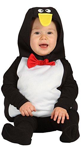 Guirca - Disfraz de pingüino, para niños de 12-24 meses, color negro (85553)