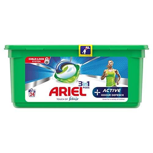 Ariel 3in1 Pods + actieve geur defensie touch van febreze 24 Wash