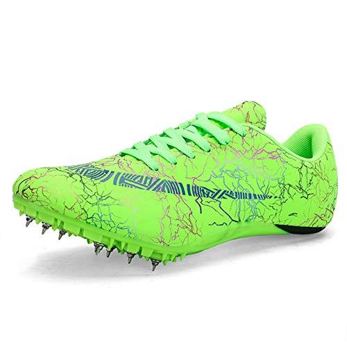 X/L Zapatillas de Atletismo Spikes Hombre Mujer Zapatillas de Correr a Distancia Zapatillas Deportivas de Carrera de Atletismo con Clavos (Color : J, Size : 10.5 UK)