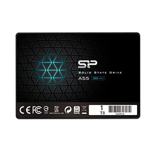 シリコンパワー SSD 1TB 3D NAND採用 SATA3 6Gb/s 2.5インチ 7mm PS4動作確認済 3年保証 A55シリーズ SP001TBSS3A55S25