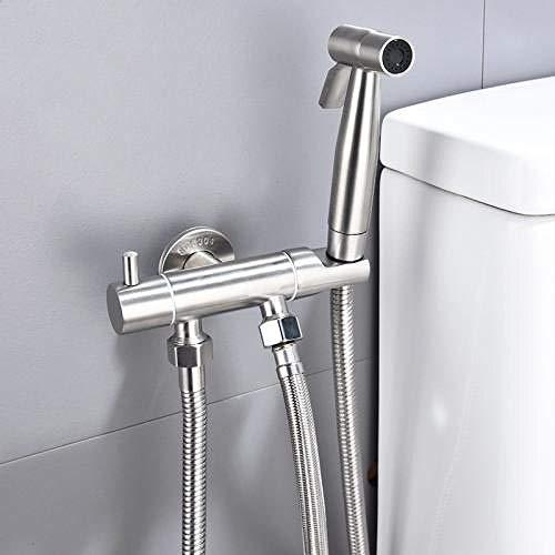Wasbaar Handheld Bidet Doek Luier Sprayer - RVS Toilet Spray Gun Vrouwen Washer Nozzle een in Twee Hoek Klep Set Toilet Flusher Toilet Companion