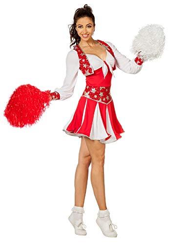 narrenkiste W4182-A-40 - Camiseta de bailarina para mujer, talla 40, color rojo y blanco