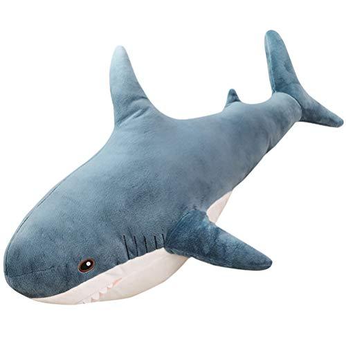 AIJIANG Plush Soft Toy Great Sharks Toy,45cm Cartoon Shark Plush Toy Ocean Aquatic Animals Shark Doll Kids Huggable Plushie Toy Birthday Gift