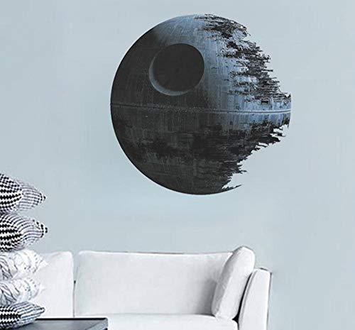 Hpybest Películas de Star Wars Death Star Wars, calcomanías de vinilo para decoración del hogar, calcomanías removibles para la guardería de los niños