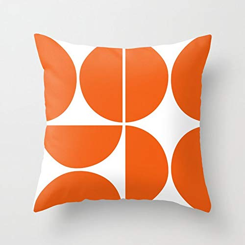 PPMP Orange pillow cover sofa mid-century geometric cushion cover, used for home sofa decoration pillow cover cushion cover A9 45x45cm 1pc