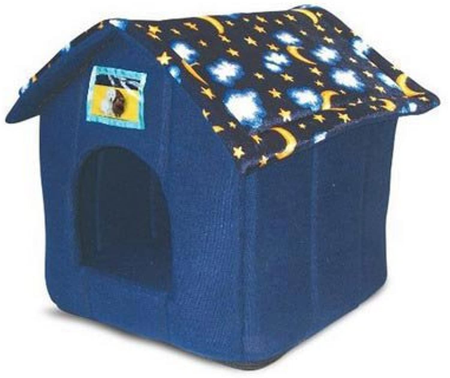 PetEssentials Just4Pets Moon and Stars House Bed (EcoFriendly Packaging) 40 x 40 x 33cm