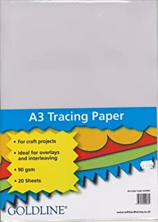Clairefontaine Goldline Trace Paper, A3, 90 GSM, 20 Sheets