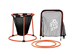 four skills targets in one for use with or without a football flick urban skills trainer. shoot into the moveable target hoop, the football goal target rings, or into the mini target goal. target rings can also be ground based for control and placeme...