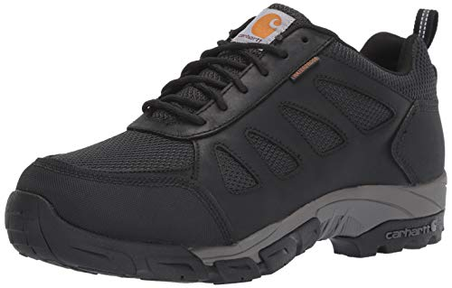 Carhartt Men's Lightweight Wtrprf Low-Height Work Hiker Soft Toe CMO3181 Industrial Boot, Black Leathe/Nylon, 11.5 M US