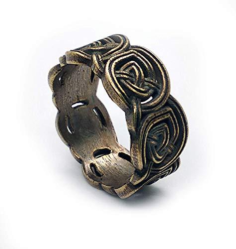 Celtic knot brass ring. Size 10