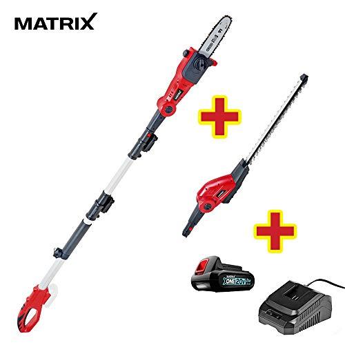 Matrix X-One 2in1 Akku-Hochentaster/Heckenschere 20V