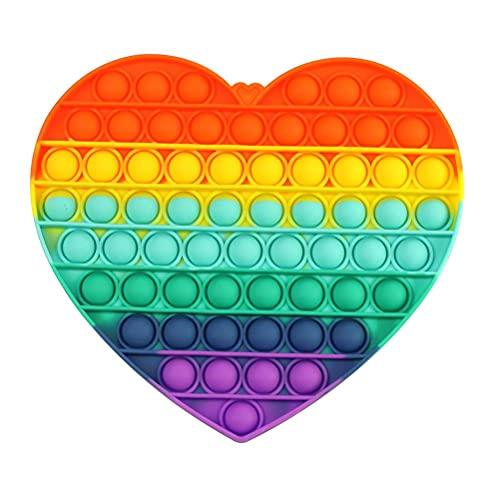 Push-Pop-Bubble Spielzeug, sensorisch, Pop it Fidget Spielzeug, Autismus, speziell für Stress, Reliever, Spielzeug für Kinder und Erwachsene (Rainbow)