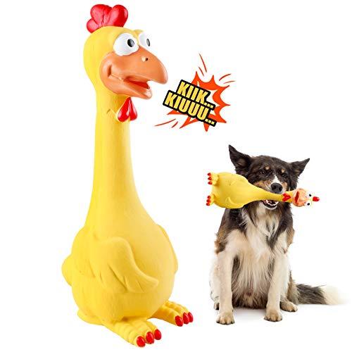 G.C Hundespielzeug Große Hunde, Hund Kauspielzeug Quietschspielzeug, Hähnchen intelligenz unzerstörbares Natürliches Gummi Zahnbürste für Mittelgroße Große Hündchen