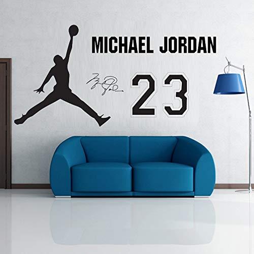 Pegatinas de pared, cartel de calcomanía de pared de baloncesto 42x42cm