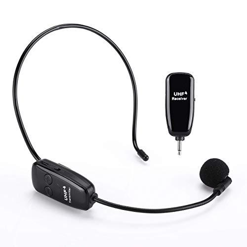 Elikliv 3.5MM Solapa Micros Inalámbrico Micrófono Voz Amplificador Profesional Auriculares Micro Compatible...