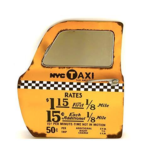 DiiliHiiri Cartel Retro Vintage Letrero Puerta Espejo Metálico Artesania Accesorios Decoración Hogar - New York Taxi