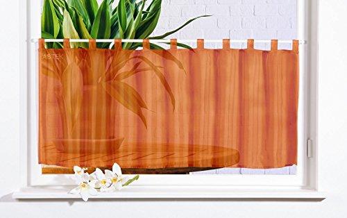 Gardinenbox Scheibengardine Uni Voile, 50x160, Terrakotta, 61070