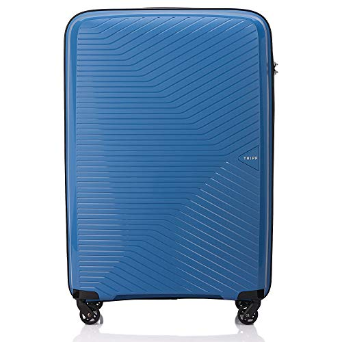 Tripp Sky Blue Chic Large 4 Wheel Suitcase