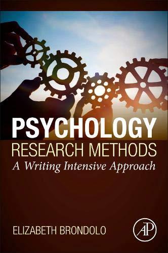 [画像:Psychology Research Methods: A Writing Intensive Approach]