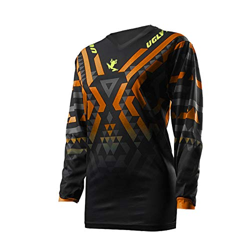 Uglyfrog Designs Bike Wear Men's Downhill Jersey Rage MTB Cycling Top Cycle Motocross Mountain Bike Shirt Long Sleeve