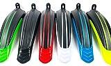 INION Schutzblech 2X Set für Vorderrad Hinterrad Kotflügel Spritzschutz Vorne Hinten Radschutz Schmutzfänger Fahrrad MTB Citybike Mountainbike jurfahr (Schwarz - Gelb Neon)