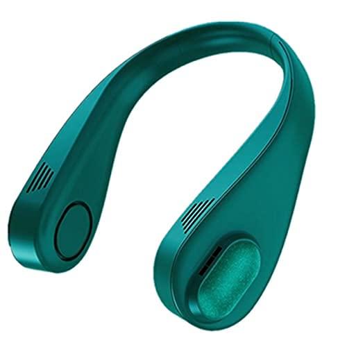 Mini ventilador de cuello sin hojas USB recargable perezoso colgante cuello ventilador silencioso deportes para el hogar deportes al aire libre