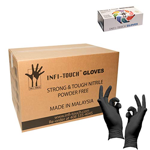 Heavy Duty Nitrile Gloves, Infi-Touch Strong & Tough, High Chemical Resistant 1000 Gloves,Small