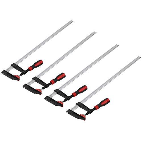 AYNEFY 4 Stück Schraubzwinge 600mm x 80 mm Robuste F Klemmzwinge Temperguss Spannweite schnelle Holz Bastelzwinge Holzbearbeitung Clamps Modelbauzwingen DIY Handwerkzeug