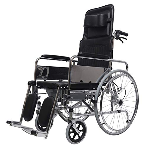 HDGZ Wheelchairs for Elderly People, Ergonomic Seat and Back, Width 46 cm, Height 118 cm, Maximum Weight 100 Kg