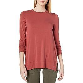 Amazon Brand – Daily Ritual Women's Soft Rayon Jersey Long-Sleeve Split-Hem Tunic