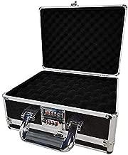 Gun Safe for Pistols, Gun Lock Box with 3 Digits Combination Lock, Portable Aluminum Handgun Safe for 4 Pistols, Pistol Safe for Home Bedside Nightstand Car Travel