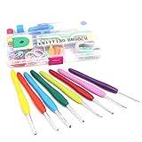 RainbowBeauty Xiton Crochet Hooks Conjunto Agujas De Tejer Puntadas Craft Caja del Kit Herramientas De Ganchillo Set con Caja De Almacenamiento del Sistema De Herramienta De Tejer