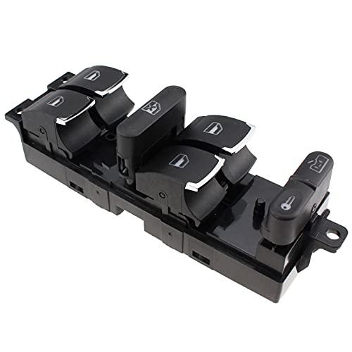 Wcnsxs Interruptor de Controlador de Ventana Principal Cromado del Lado del Conductor, para Jetta, para Golf, para Passat 1998-20053BD959857