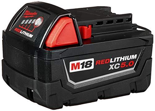 MILWAUKEE'S 48-11-1850 M18 Redlithium 5.0Ah Bat Pack
