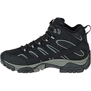 Merrell Women's Moab 2 Mid GTX Hiking Boot Black 10 B(M) US
