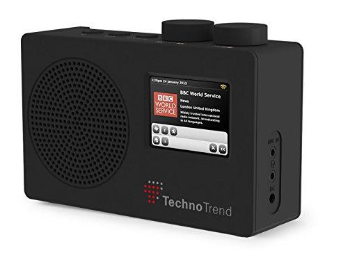 TechnoTrend - Radio portátil Dab Dab+ FM con Pantalla a Color.