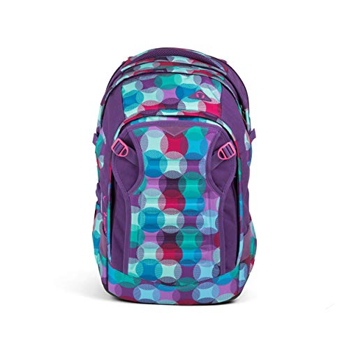 satch Match, Hurly Pearly ergonomischer Schulrucksack, erweiterbar auf 35 Liter, extra Fronttasche