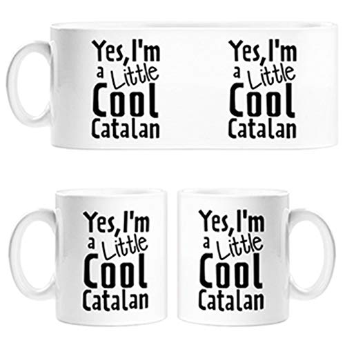 Diver Tazas Taza Yes I Am A Little Cool Catalan - Cerámica