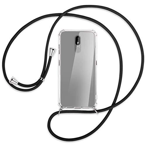 mtb more energy Collar Smartphone para Nokia 3.2 (32GB, 6.26'') - Negro - Funda Protectora ponible - Carcasa Anti Shock con Correa para Hombro