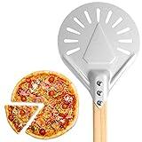rebirthesame Peau de Pizza perforée Ronde, Pizza à peler Durable antidérapante en Aluminium pour boulangers à Pizza Maison, 7 `` / 8 '' / 9 ''