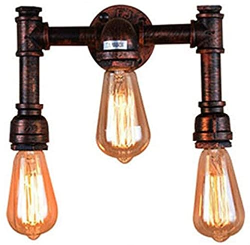 Raelf Retro labrado pipa lámpara pared lámpara de pared diseño innovador diseño modelo retro industrial estilo lámpara de pared de tubo simple para cafetería barra cocina comedor bodega la cama de la